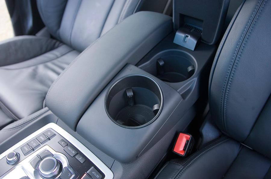 Audi Q7's giant cupholders