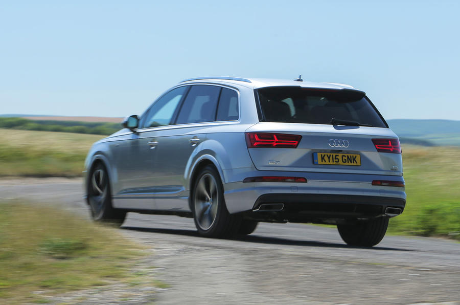 Lateral grip on the Audi Q7 is decent through tighter corners