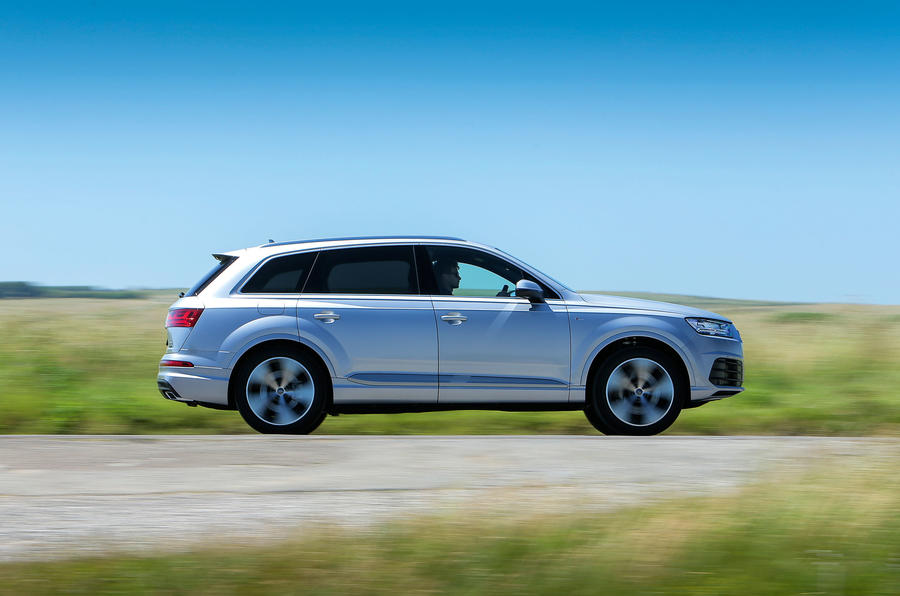 The Audi Q7 is impeccably hushed and refined at motorway speeds