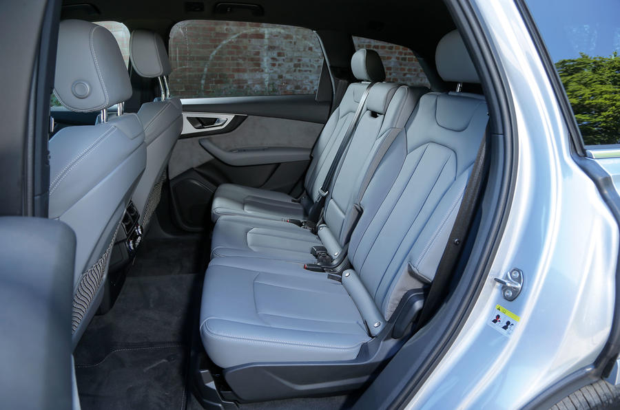 The rear seats in the Audi Q7