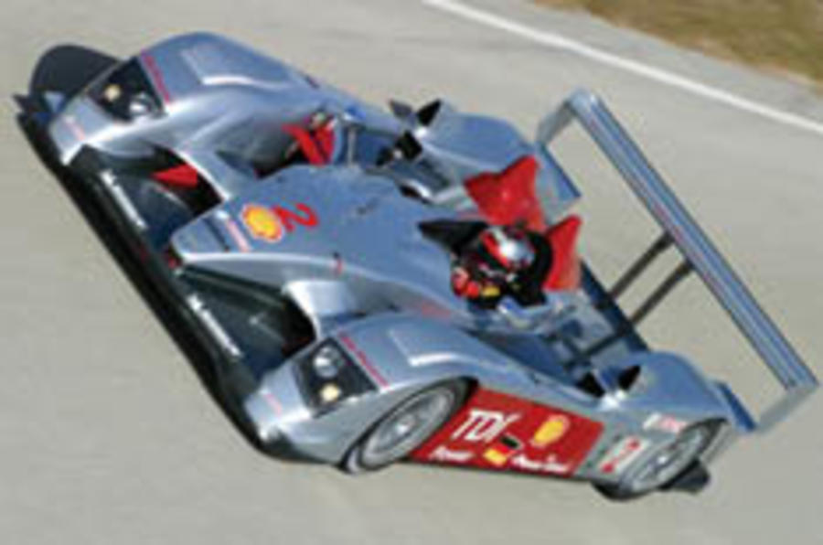 Diesel Audi racer stars on debut
