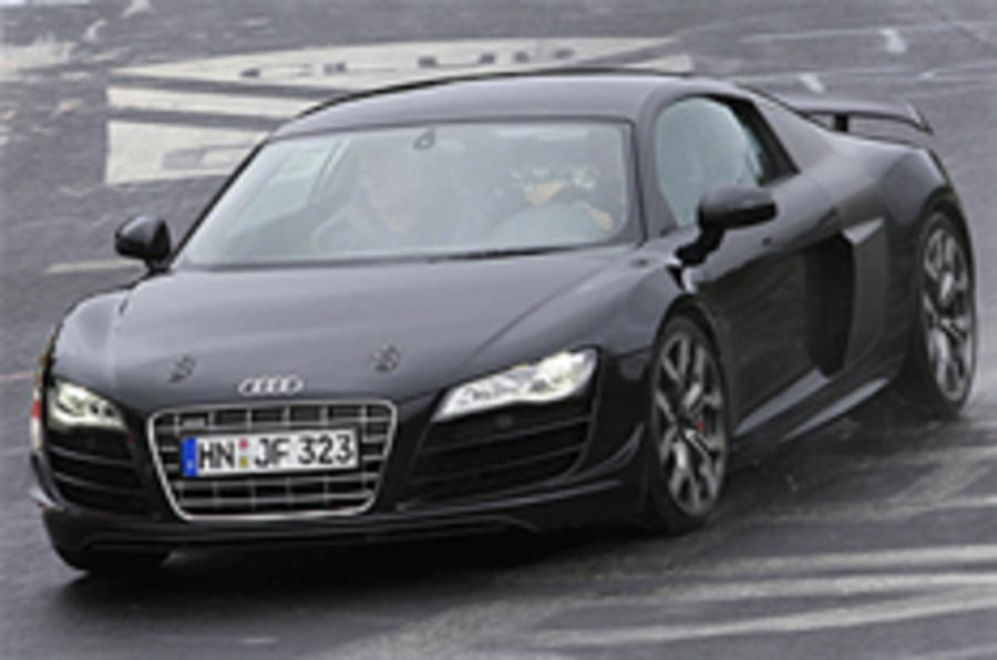 Audi R8 Sport spied