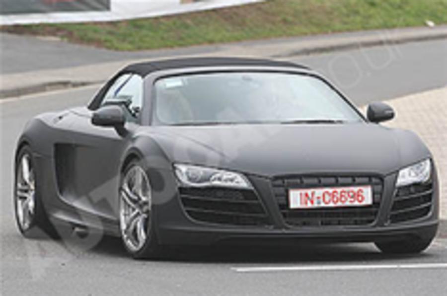 Spied: Audi R8 Spyder