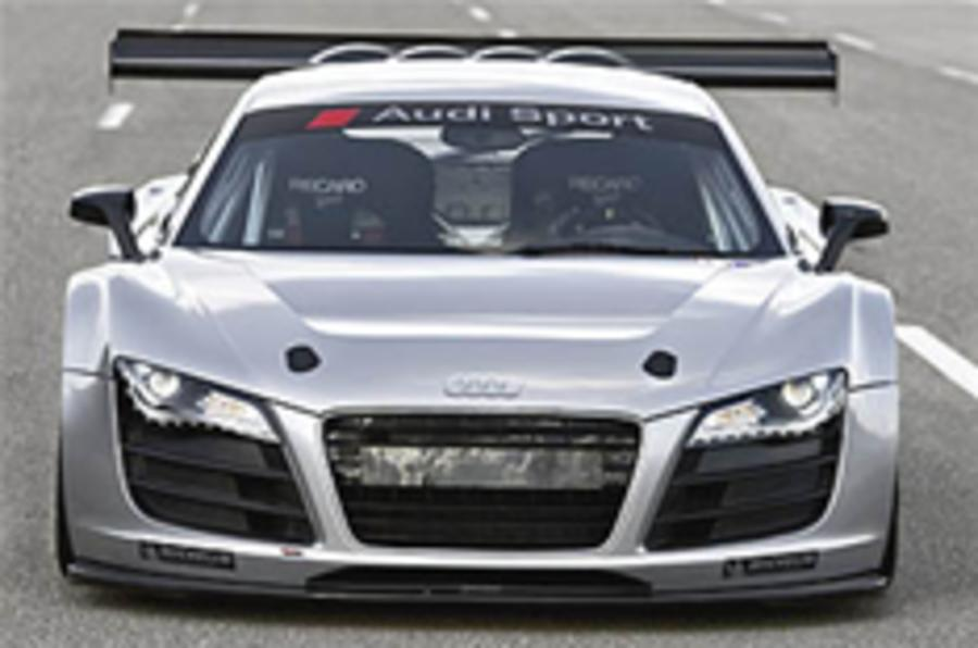 Audi R8 takes to the track