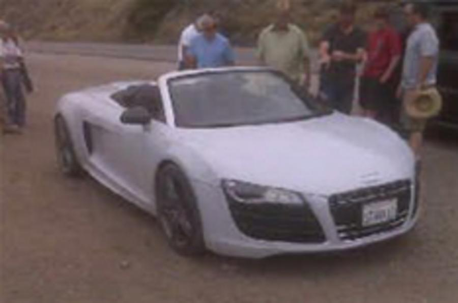 Audi R8 V10 Spider picture leaks