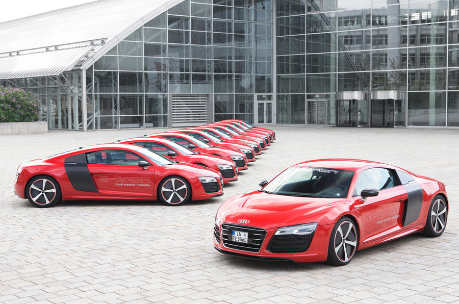 Ten Audi R8 e-tron prototypes