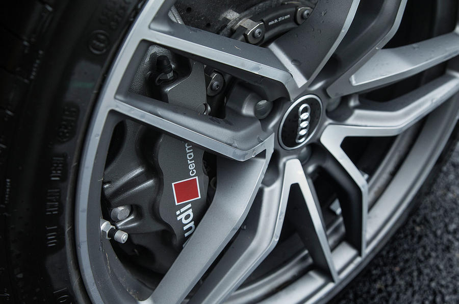 ...while the Audi R8 V10 Plus gets lighter alloy wheels