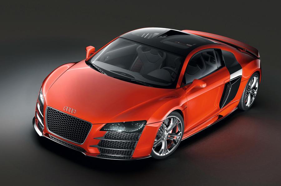 Audi hypercar on ice