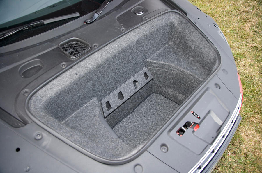 Audi R8's boot space