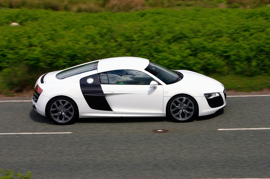 The two-tone Audi R8 V10