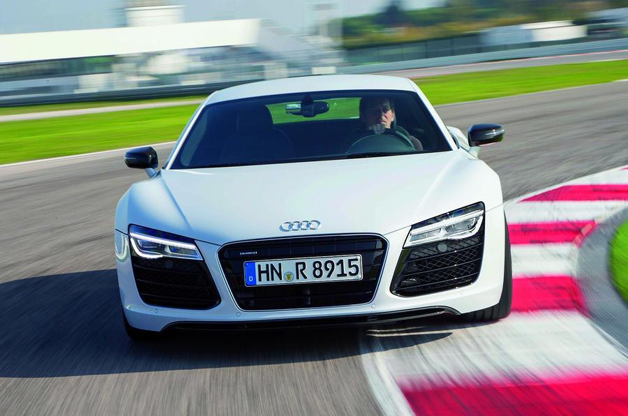 Audi R8 cornering