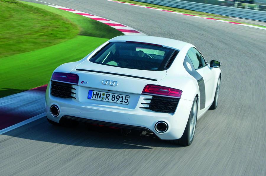 Audi R8 rear cornering