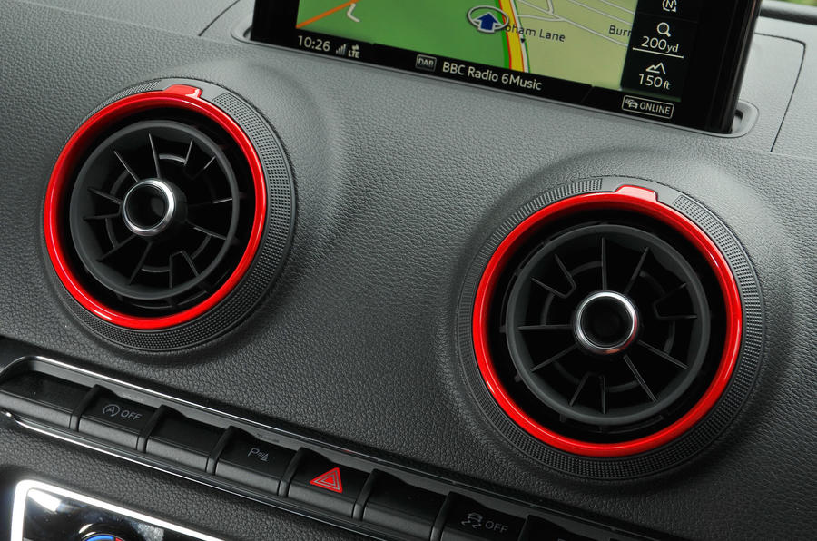 Audi RS3 air vents