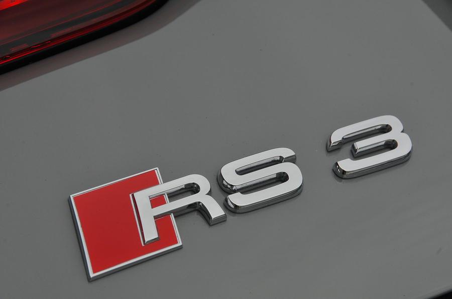Audi RS3 badging