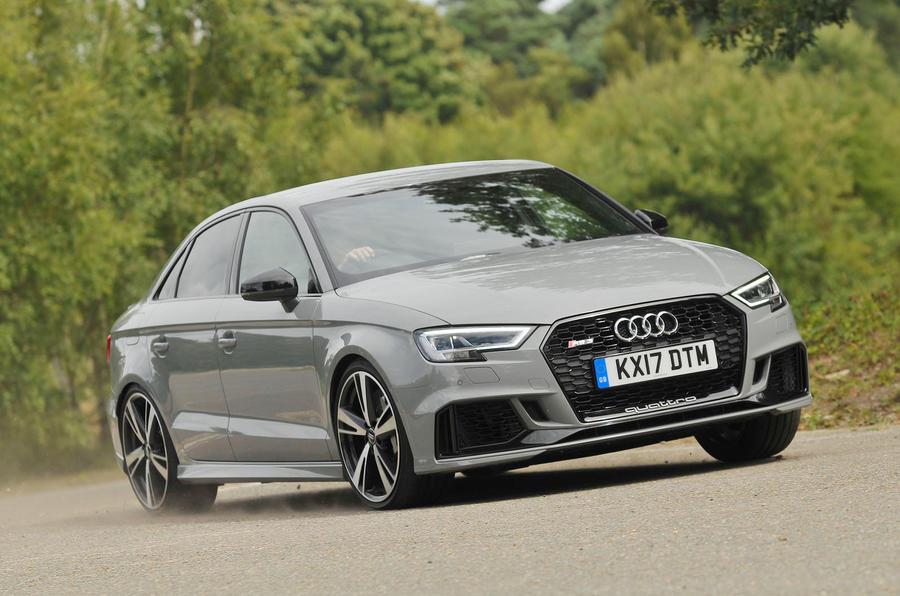 Audi RS3 cornering