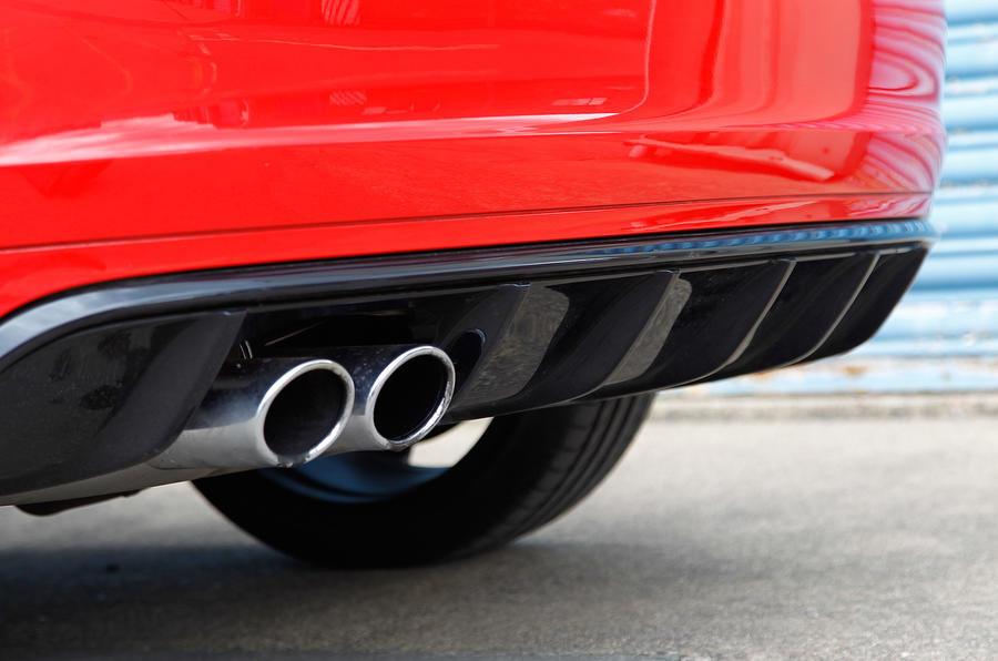 Audi RS3's twin exhaust