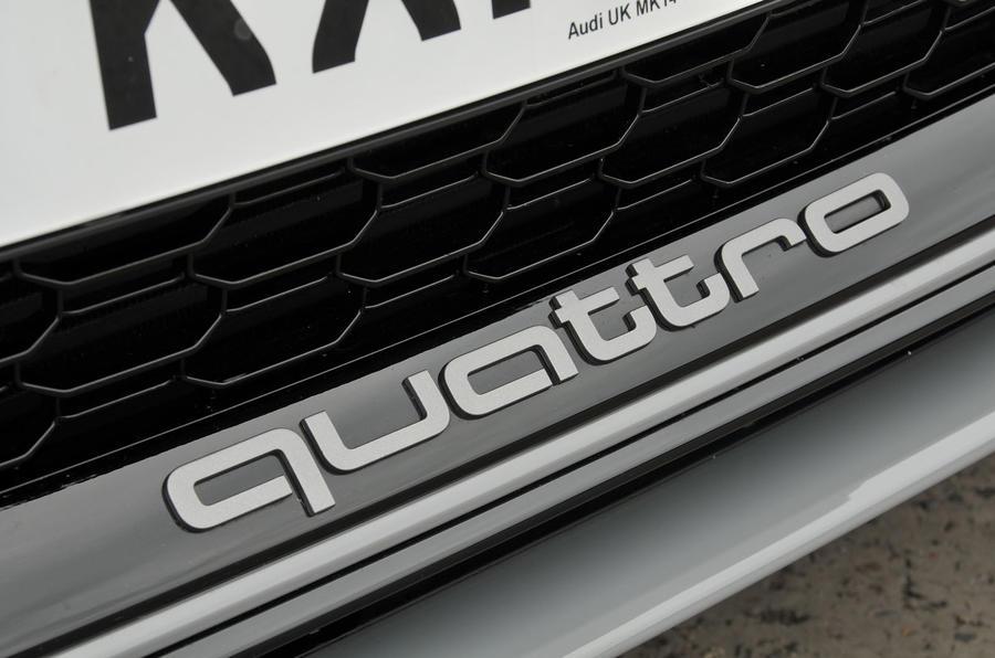Audi RS3 quattro badging