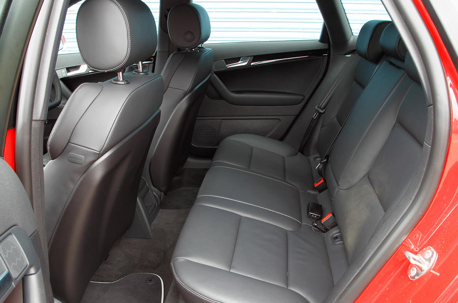 Audi RS3's rear seats