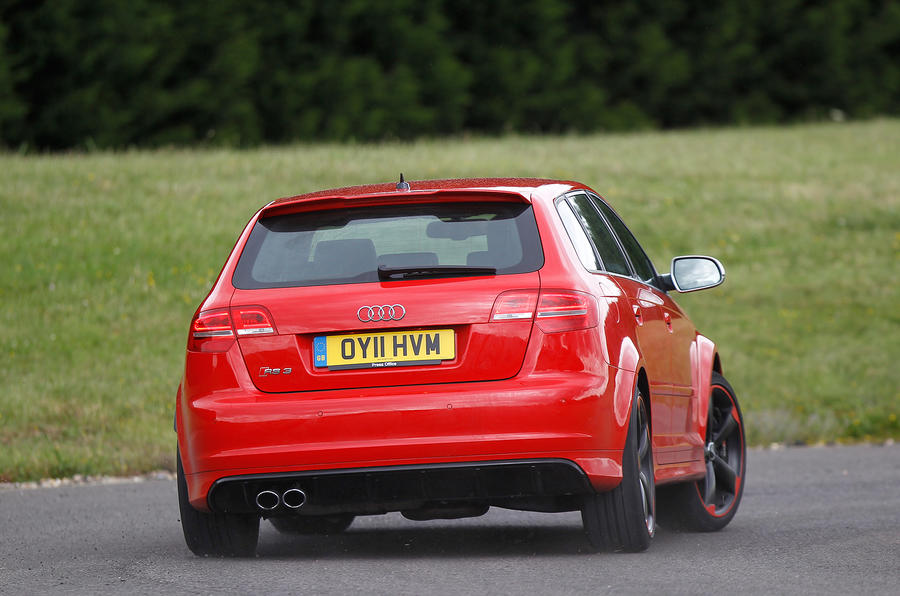 Audi RS3 rear cornering
