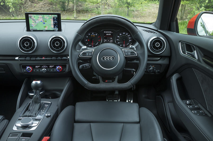 audi rs3 sportback 2015 2016 interior autocar. Black Bedroom Furniture Sets. Home Design Ideas