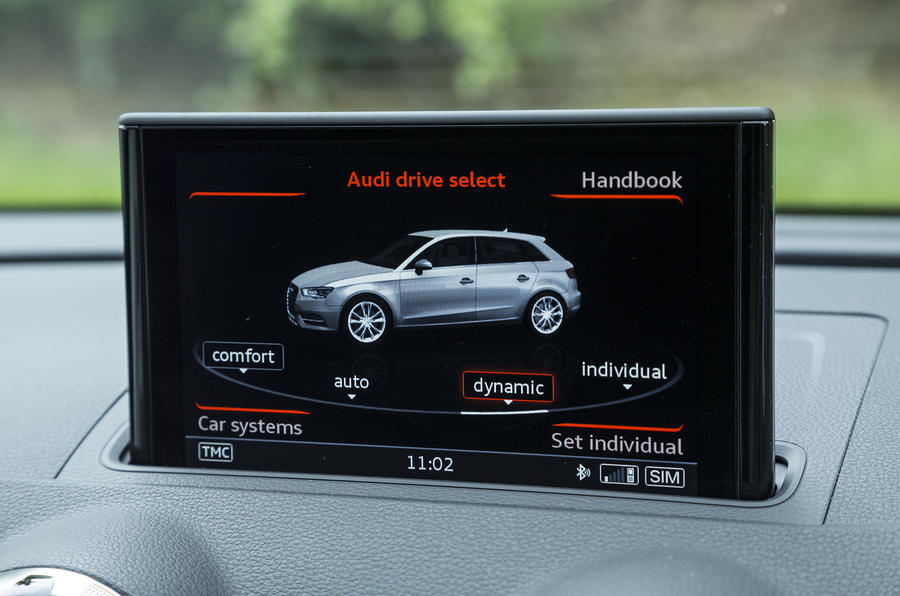 Audi RS3 Sportback vehicle settings