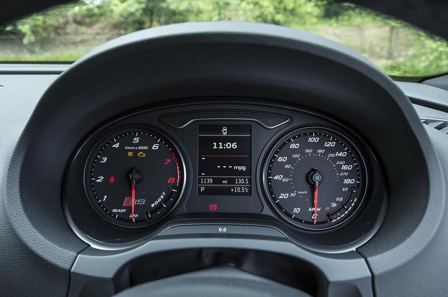 Audi RS3 Sportback instrument cluster