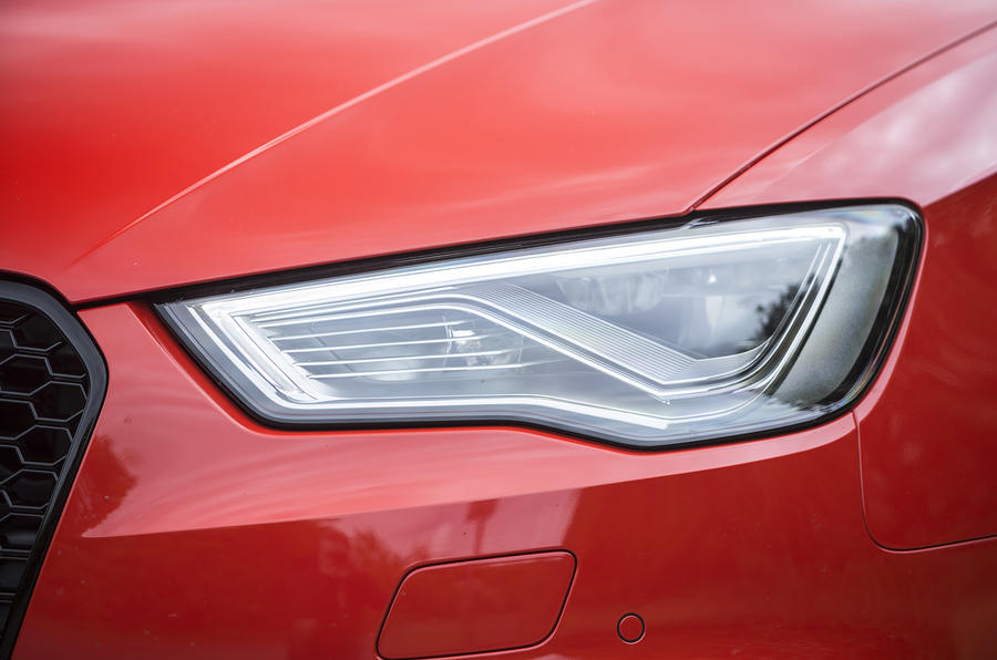 LED lights on the Audi RS3