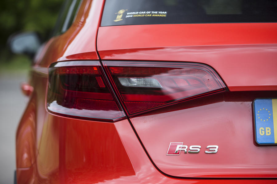 Audi RS3 Sportback's rear LEDs