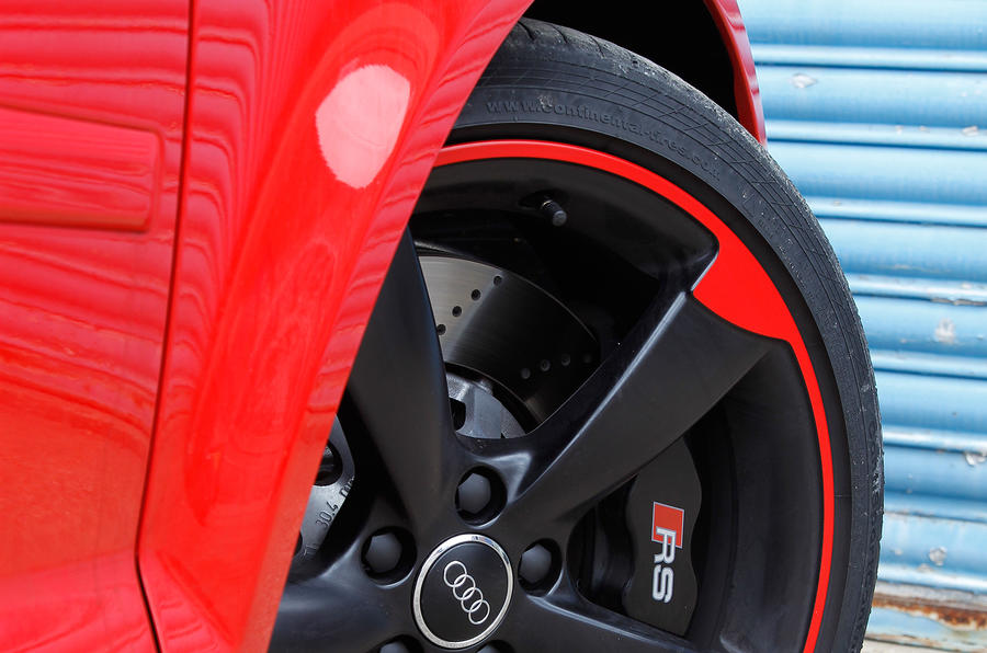Audi RS3 red paint alloys