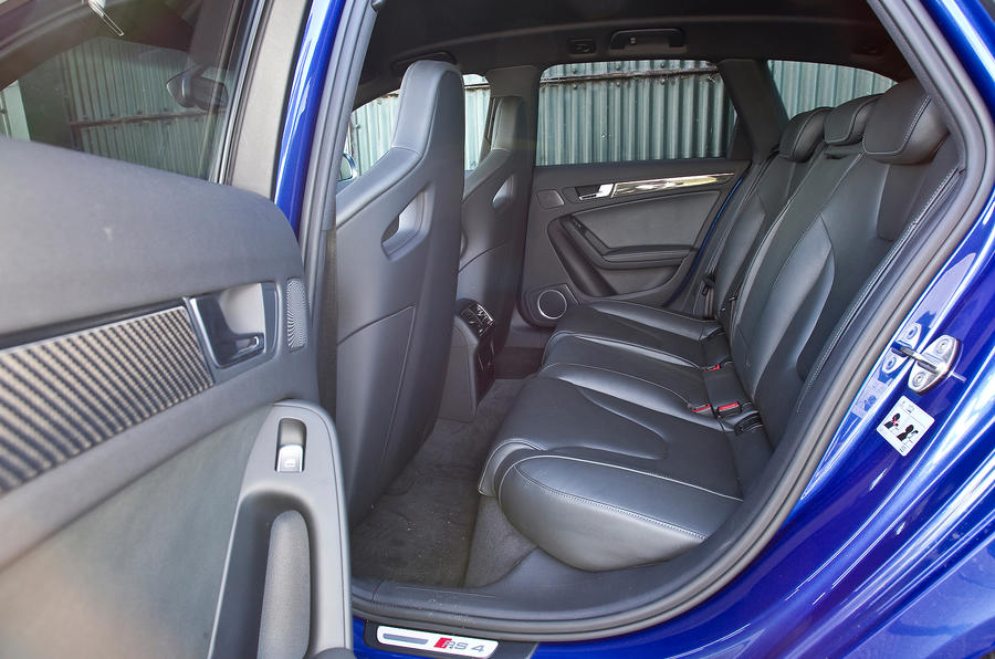 Audi RS4 Avant's rear seats