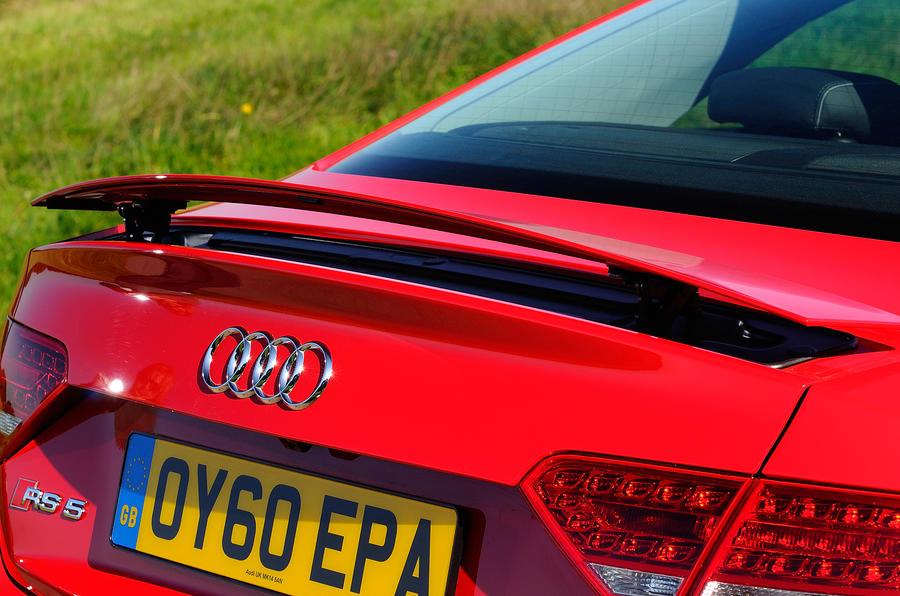 Audi RS5's rear spoiler