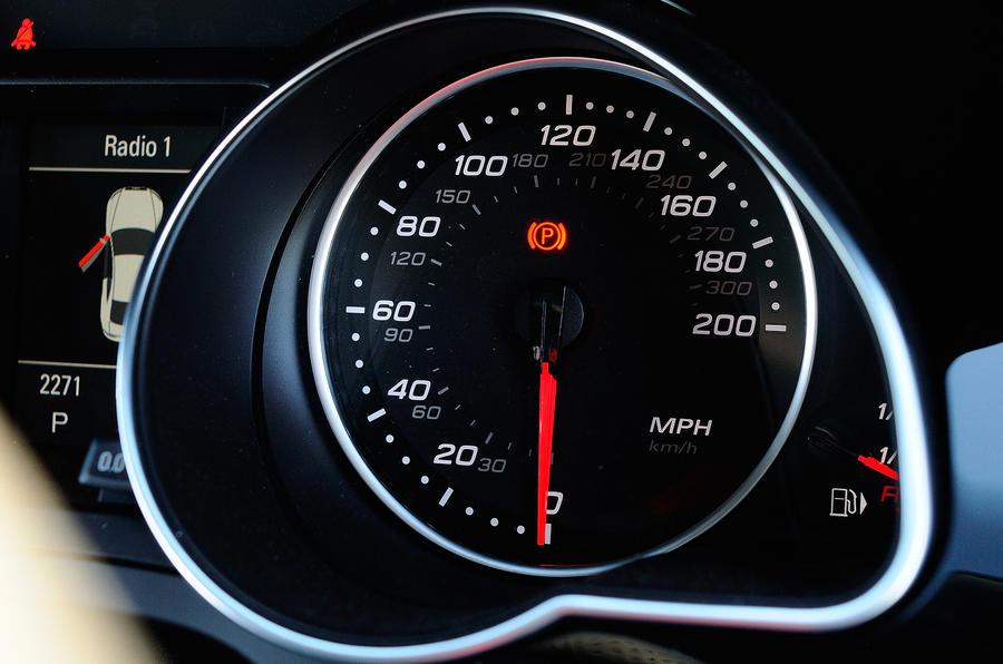 Audi RS5's speedo