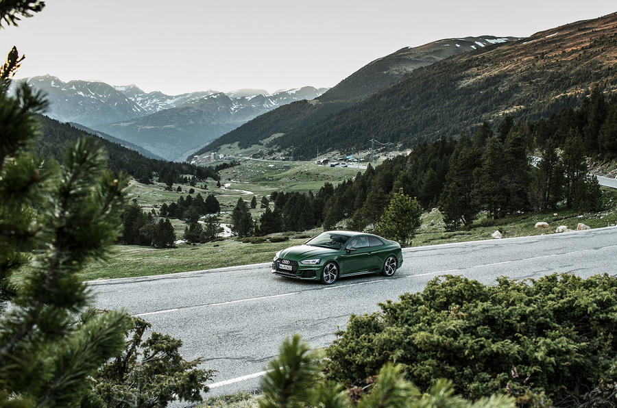 Audi RS5 on the road