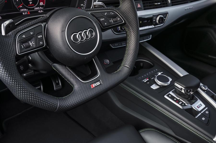 Audi RS5 steering wheel