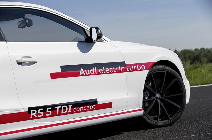 Audi RS5 V6 TDI-e prototype decals