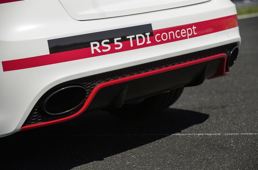 Audi RS5 V6 TDI-e prototype rear diffuser