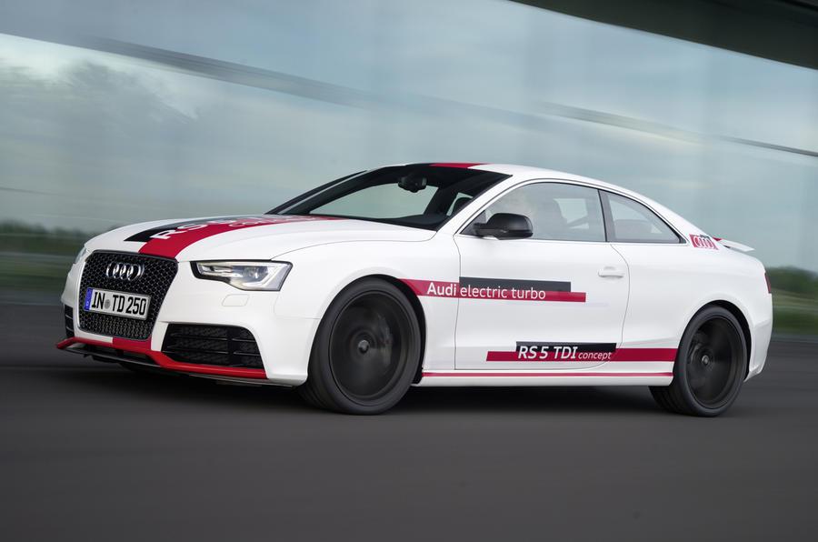 Audi RS5 V6 TDI-e prototype front quarter