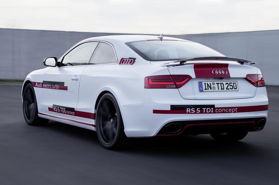 Audi RS5 V6 TDI-e prototype rear quarter