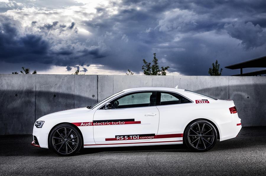 Audi RS5 V6 TDI-e prototype side profile