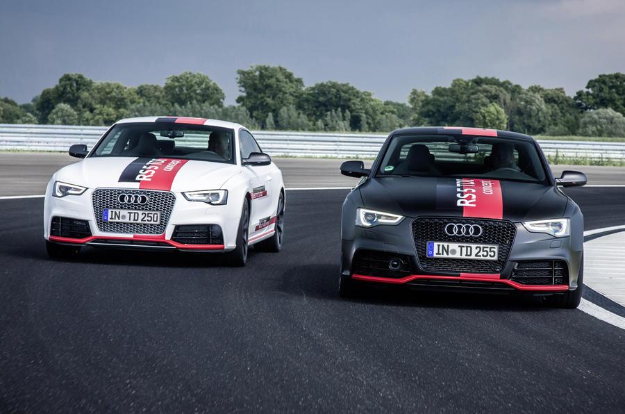 Audi RS5 V6 TDI-e prototype cornering
