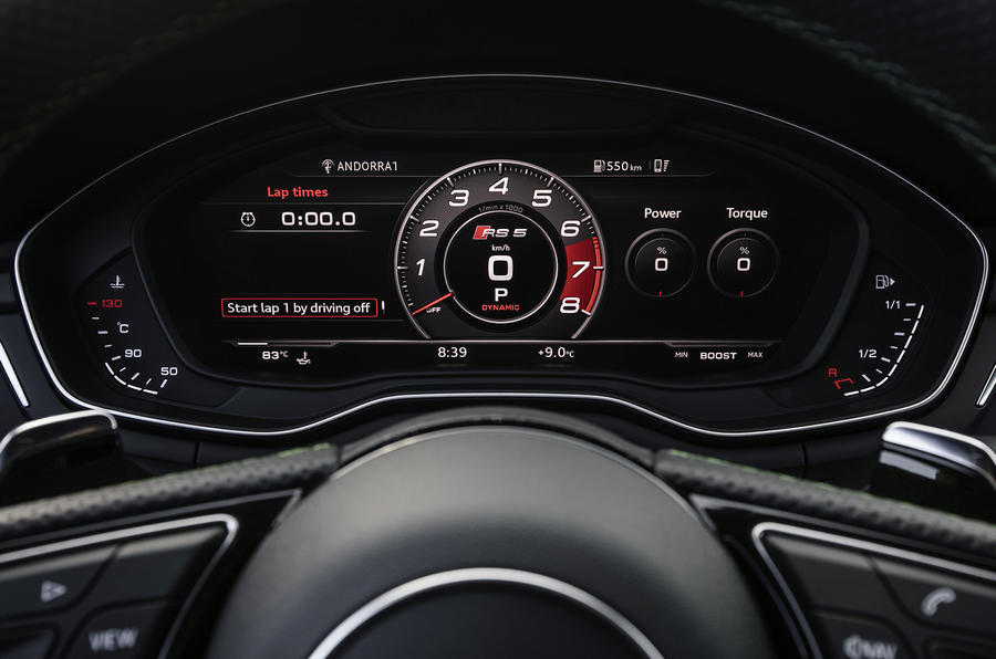 Audi RS5 Virtual Cockpit