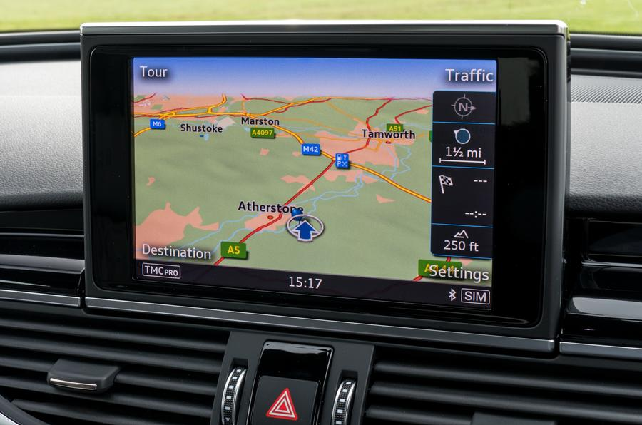 Audi RS6 MMI infotainment system