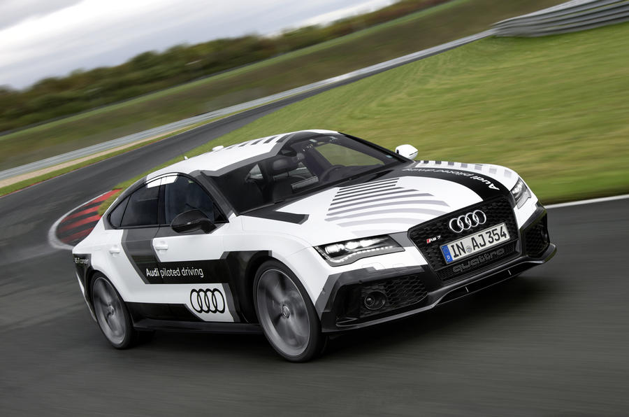 A hot lap in the passenger seat of Audi's self-driving RS7