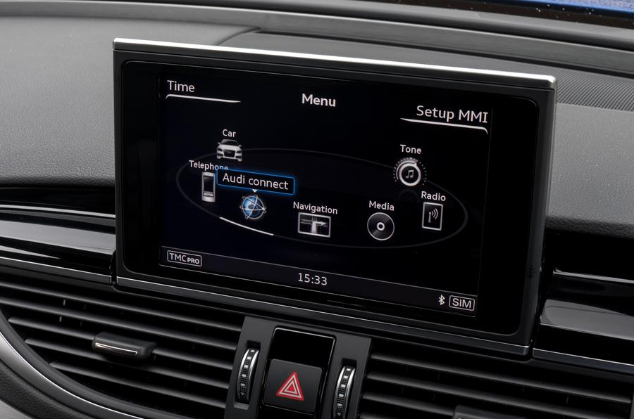 Audi RS7 MMI infotainment system
