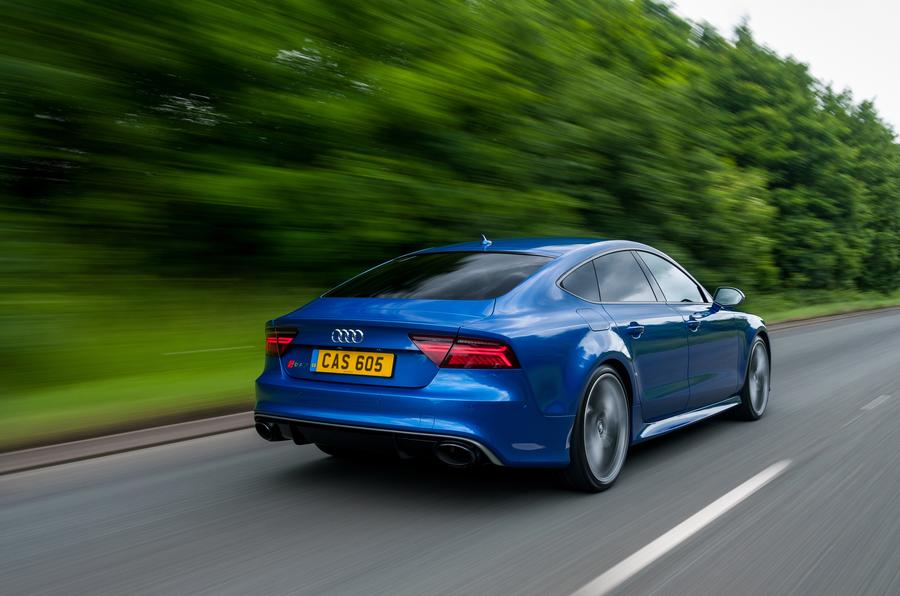 Audi RS7 rear cornering
