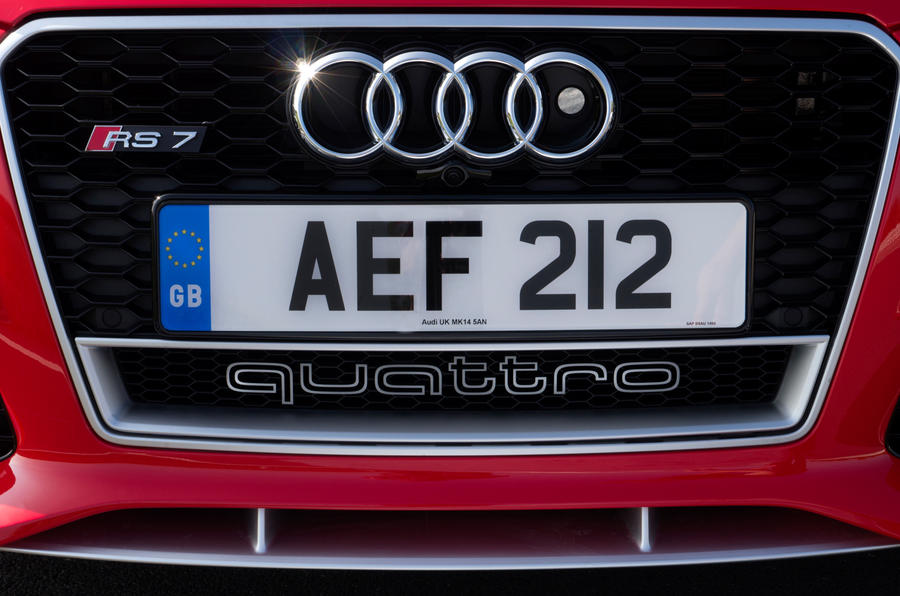 Audi RS7's front grille