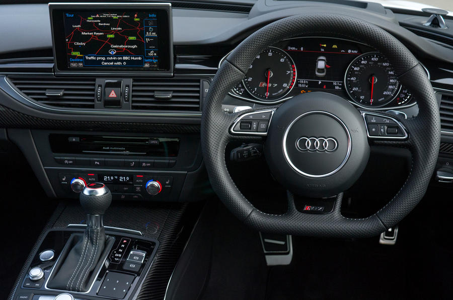 Audi RS7's centre console
