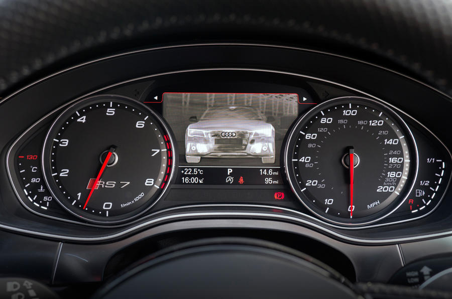 Audi RS7's instrument cluster