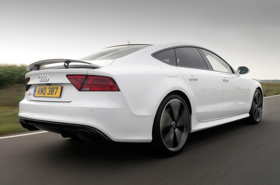 The rear of the Audi RS7