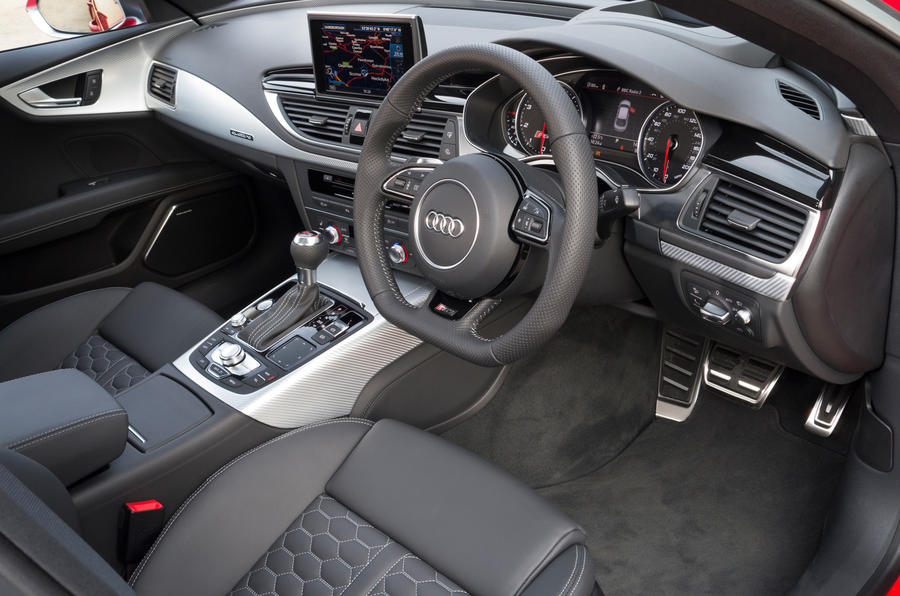 Audi RS7s driver's seat